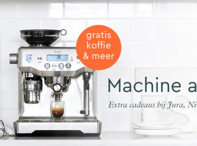 Gratis koffie bij aankoop van een espressomachine